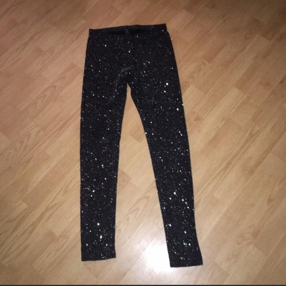 bfafa538 Fashion Nova Pants | Forever 21 Glitter Sparkly Leggings Dolls Kill ...