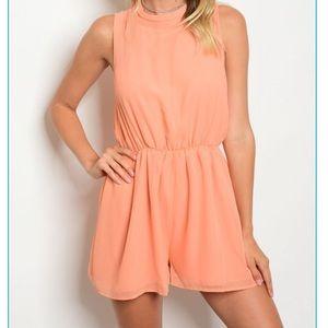 Apricot shorts Romper
