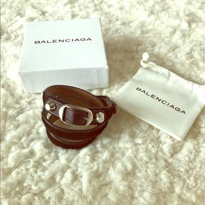 Balenciaga Black Pony Hair Wrap Bracelet
