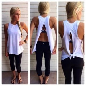 Tops - Summer Backless Sleeveless Tank Top