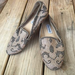 Steve Madden Jeweled Flats Crystal Conncord