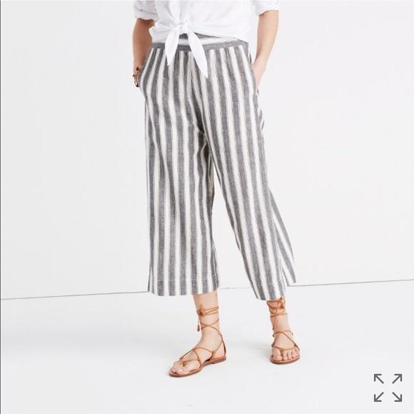 bac2b4c68c Madewell Pants - Madewell huston pull-on crop pants in stripe