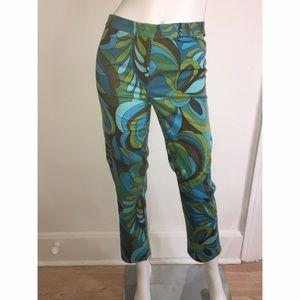 Lily Like Printed Ankle Pants Sz 6
