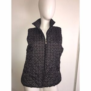 Black and White Vest Sz L