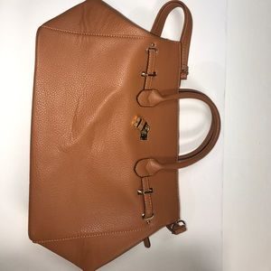 Handbags - Brown leather bag with strap