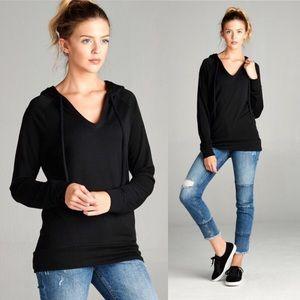 Tops - Long Sleeve Black Hoodie