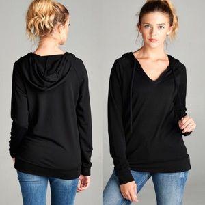 Long Sleeve Black Hoodie