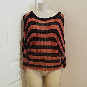 Rubbish  stripes sweater size small!.