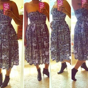 Strapless Tracy Reese print dress