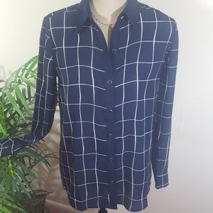CHARTER CLUB BUTTON DOWN BLUSE...Nwot!