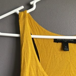 Banana Republic Tops - 🍋3/$15🍋 Banana Republic • Mustard Two Layer Tank