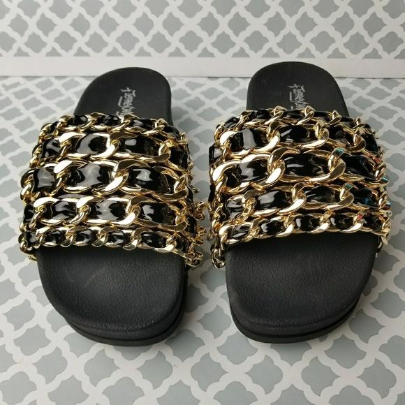 479a1016e7a3  Jeffrey Campbell  Edie Platform Slide Sandal 9