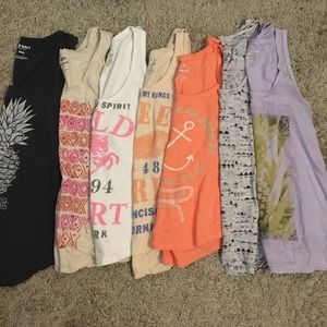 Women's tank tops Old Navy and American Eagle