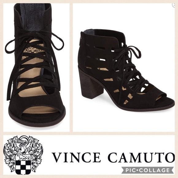 7e0c2303190 Vince Camuto Tressa Perforated Bootie  Black . M 59a5f23c291a35ca3c029fc5