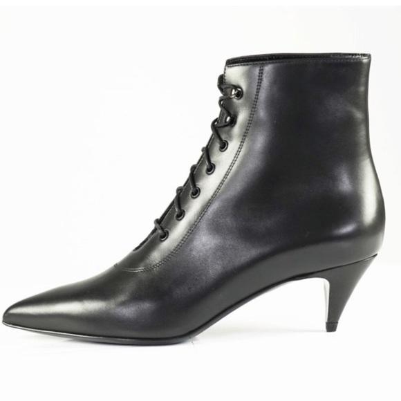dfe0a965548 Yves Saint Laurent Kitten Heel Boots