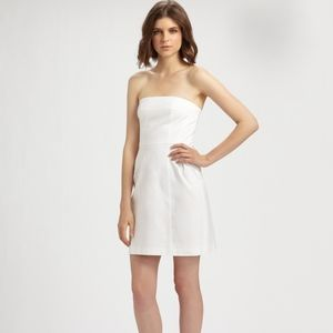 "Theory ""Deliza"" strapless dress"