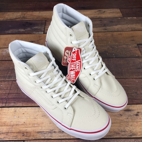842b20feb8 ✨SALE✨ Vans Sk8 Hi Slim Bone Cream Canvas
