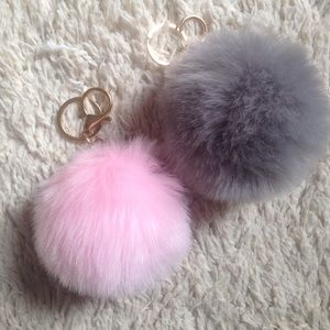 Accessories - 2 Faux Fur Poof Keychains 7ebae64af6