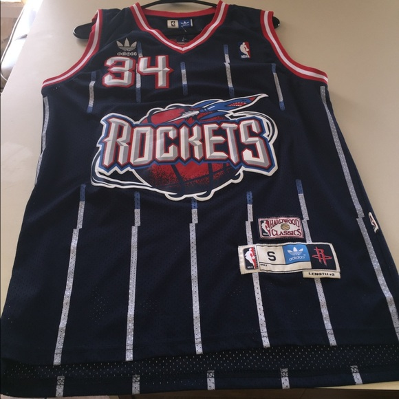 check out 057bc 3502d Adidas Houston rockets vintage authentic jersey NWT