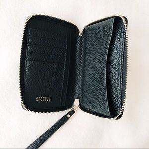 Handbags - Black Leather Phone Wallet Wristlet Clutch