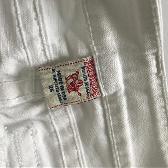 True Religion Jeans - True Religion White Denim Flare Joey Jeans Sz. 25