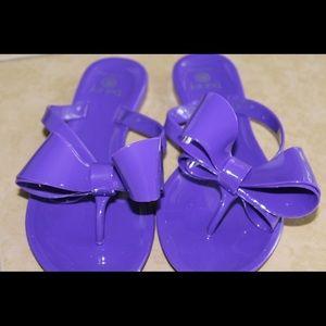 Other - Girls Purple Bow Jelly Flip Flops