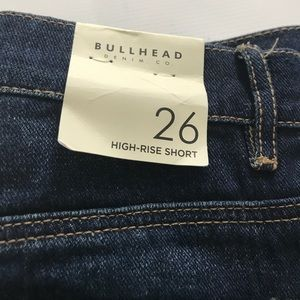 Bullhead Shorts - Bullhead High Rise Dark Denim Jeans Shorts Sz 26