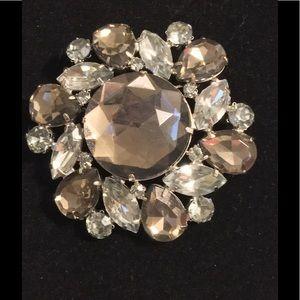 Jewelry - VINTAGE BROOCH, SMOKEY GREY