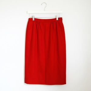 Vintage Pendleton 100% Wool Red Skirt Sz 6 S