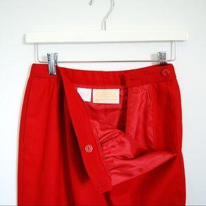 Pendleton Skirts - Vintage Pendleton 100% Wool Red Skirt Sz 6 S