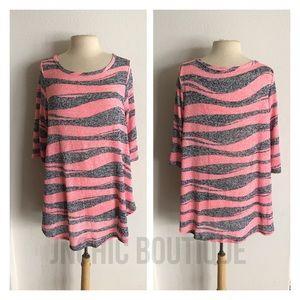 Sweaters - (Plus) Striped lightweight sweater