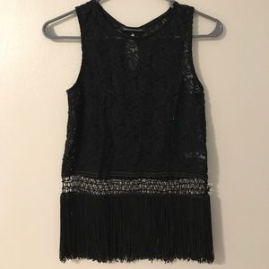 Tops - Lace and fringe Tank