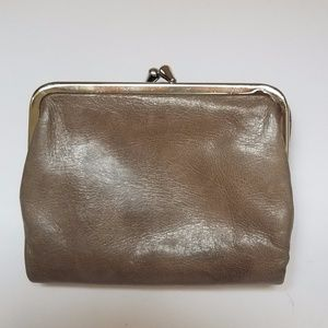 HOBO Women's Taupe 100% LEATHER Mini Wallet