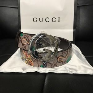 57b79b0976b Gucci Accessories - Men s Gucci interlocking GG Tiger Monogram Belt