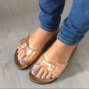 Birkenstock Shoes Nwt Madrid Rose Gold 36 Sandals Mirror