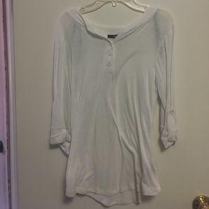 White blouse, women's white top.
