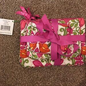 Vera Bradley cosmetics trio bags Lilli Bell pink