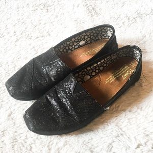 TOMS Black Glittered shoes