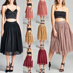 CINDY Tulle skirt - 6 colors