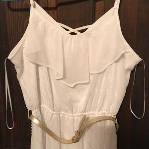 Dresses & Skirts - White high-low dress