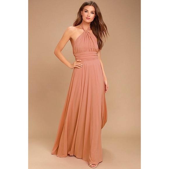 Lulu S Dresses Lulus Dance Of The Elements Rusty Rose