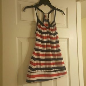Deb Red, white, and Blue Striped Tank