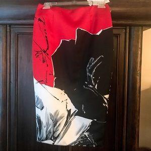 💥NWT! PRABAL GURANG Brush Stroke Skirt