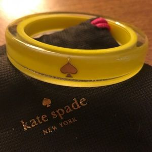 Kate spade lacquered bangle: yellow
