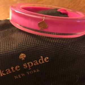 Kate spade lacquered bangle:pink