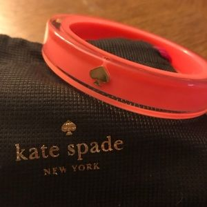 Kate spade lacquered bangle: coral