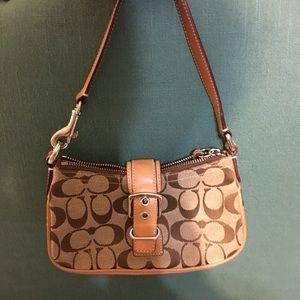 Small signature Coach shoulder bag