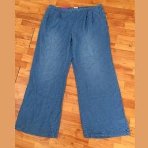 Merona chambray wide leg pants XXL