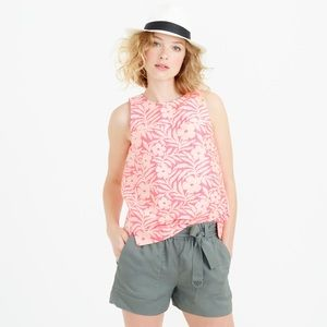 J. Crew Seamed Shell in Plumeria Jaquard