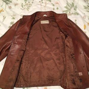 Oscar de la Renta Jackets & Coats - Oscar de la Renta Leather 2 piece skirt/blazer set
